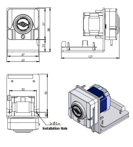 T60 Amp Wx10 Series Oem Peristaltic Pump Variable Speed Oem